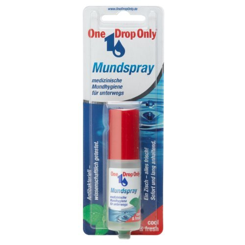 One Drop Only antibakterielles Mundspray 15ml/ langanhaltende Frische mit Pfefferminzöl und Salbei von One Drop Only