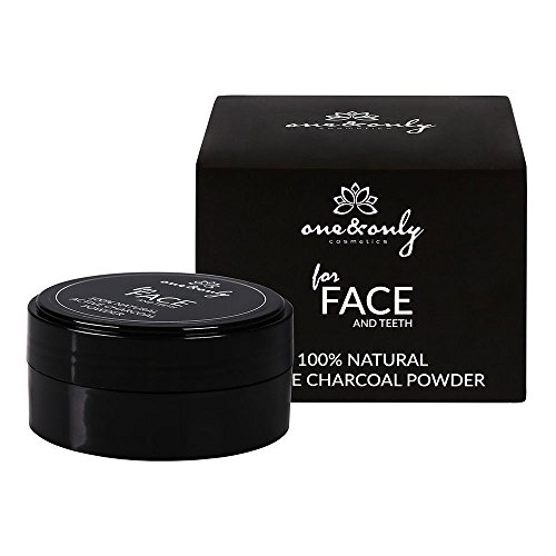 One&Only FOR FACE AND TEETH ACTIVE CHARCOAL POWDER 40 g, Bambus-Aktivkohle, reinigende Gesichtsmaske, Zahnaufhellungsmittel, Kohlepulver, face detox von One&Only Cosmetics