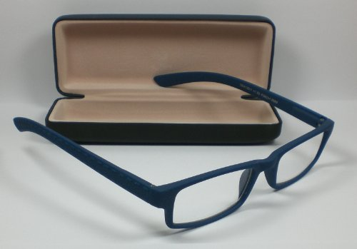 "Lesebrille Flexbügel Lesehilfe unisex Sehhilfe blau "" Pure Colours "" Etui +3,0 Dioptrien von Out of the Blue"
