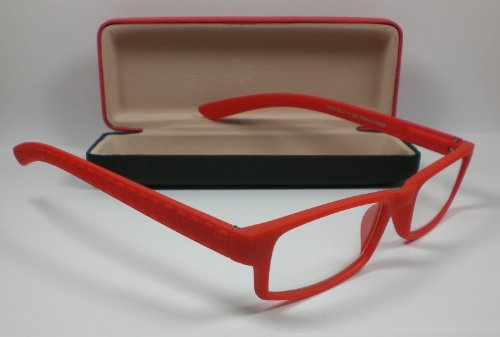 "Lesebrille Flexbügel Lesehilfe unisex Sehhilfe rot "" Pure Colours "" Etui +1,0 Dioptrien von Out of the Blue"