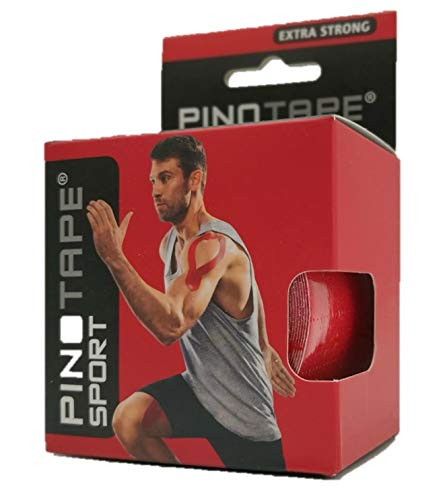 Pinotape Pro Sport Rot - kinesiologisches Tape 5 cm x 5 m- (Rot) von PINOTAPE