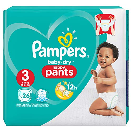 Pampers Baby-Dry Pants Taille 3, 6-11 kg, 26 Couches-Culottes von Pampers
