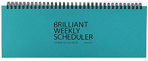 Paperian Brilliant Weekly Scheduler Wirebound Undated Weekly Planner Pad Scheduler (Blue) von Paperian