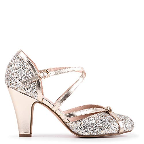 Paradox London Pink Damen FIFI Pumps, Gold (Champagne 225), 43 EU von Paradox London Pink
