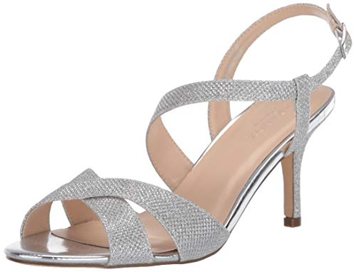Paradox London Pink Womens Hogan Heeled Sandal, Silver, 5 US von Paradox London Pink