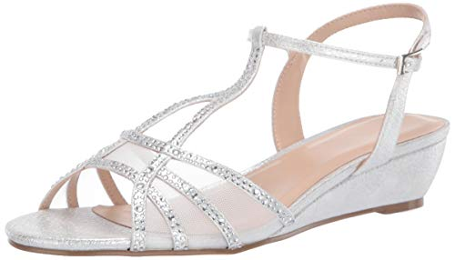 Paradox London Pink Womens Jilly Wedge Sandal, Silver, 5 US von Paradox London Pink