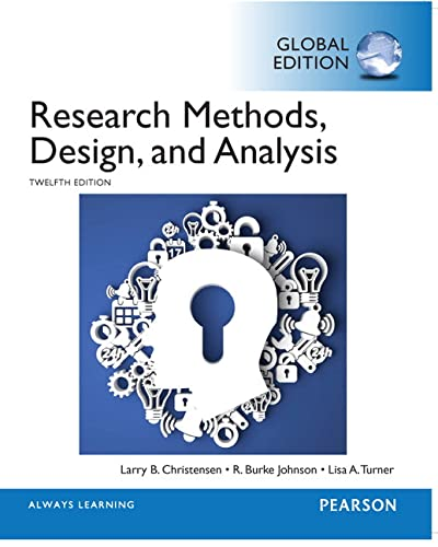 Research Methods, Design, and Analysis, Global Edition von Pearson