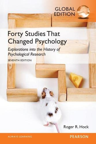 Forty Studies That Changed Psychology von Pearson Education Limited