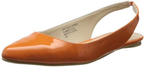 Penny Loves Kenny Damen Ballett Catcher Flach, Orange (Orange/Lack), 38.5 EU von Penny Loves Kenny