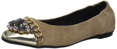 Penny Loves Kenny Damen Gower Ballett Flach, Beige (metallic-goldfarben), 37 EU von Penny Loves Kenny
