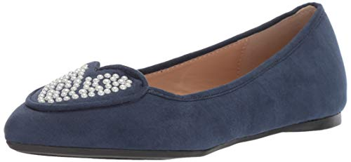 Penny Loves Kenny Damen Nookie PRL Ballerinas, Blau (Marineblaues Mikroveloursleder), 37.5 EU von Penny Loves Kenny