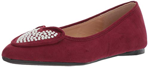 Penny Loves Kenny Damen Nookie PRL Ballerinas, Rot (Wein-Mikroveloursleder), 36.5 EU von Penny Loves Kenny