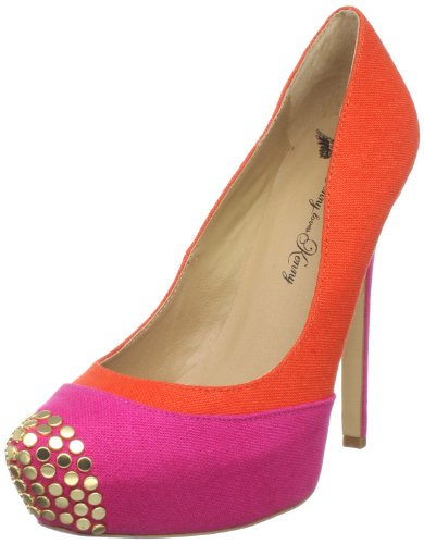 Penny Loves Kenny Damen Tetra LLL Plateau Pumps, Orange (Orange/Fuchsia), 39 EU von Penny Loves Kenny