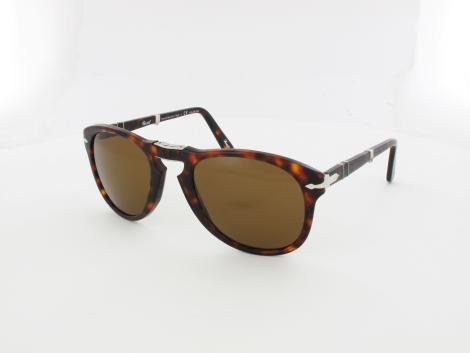 Persol PO0714 24/57 54 havana / crystal brown polarized von Persol