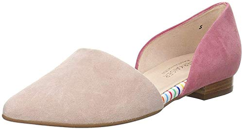 Peter Kaiser Damen Ballerinas Tippi, Frauen Klassische Ballerinas, hergestellt Deutschland Color-Blocking Mode modisch Design,Mauve,39.5 EU / 6 UK von Peter Kaiser