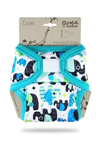 Petit Lulu Gr/ö/ße 1 PUL /Überhose Baby Regenbogen Windelhose Lila Stoffwindeln f/ür Neugeborene | Klett Waschbar /& Wasserdicht Hergestellt in EU 4-15 kg Newborn Windel/überhose