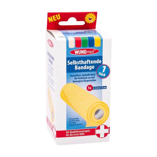 Bandage selbsthaftend 4,5mx7,5cm farb.sortiert