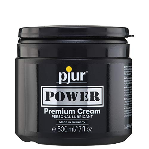 Pjur Power Premium Cream Lubricant Tiegel, Gleitmittel, 1 x 500 ml von Pjur