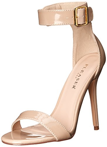 Pleaser AMUSE-10, Damen Plateau Sandalen, Beige (Cremefarben (Cream Pat)), 36 EU (3 Damen UK) von Pleaser