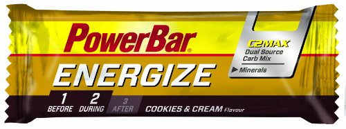 Powerbar Energize Cookies & Cream Riegel, 5er Pack (5 x 55 g) von Powerbar