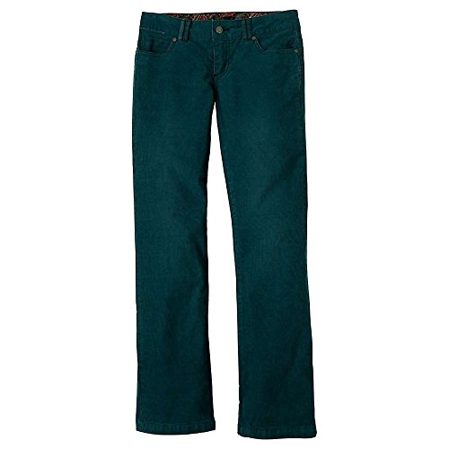 Prana Living Damen Canyon Cord Short Inseam Pant, 0, Deep Teal von Prana