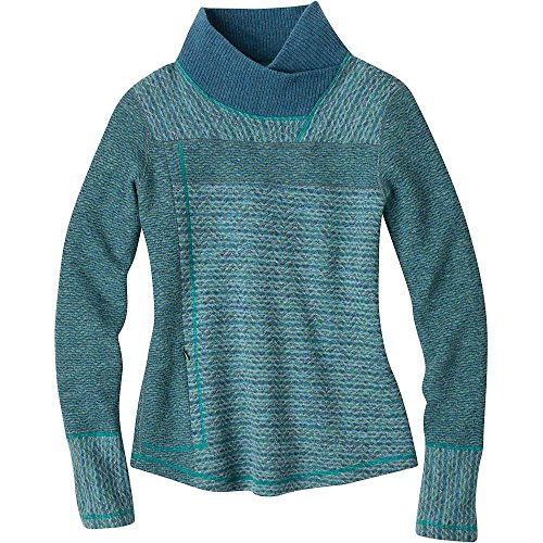 Prana Living Damen Eleanor Pullover, Größe L, Dusty Teal von Prana