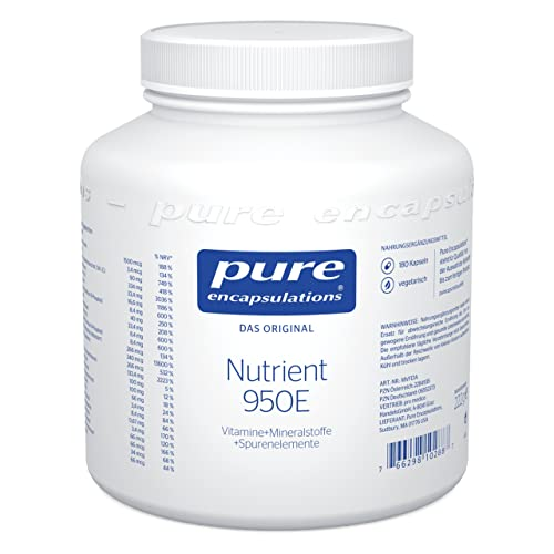 Pure Encapsulations - Nutrient 950E - Multivitaminpräparat mit aktivierten Vitaminen, Mineralstoffen und Spurenelementen - 180 vegetarische Kapseln von Pure Encapsulations