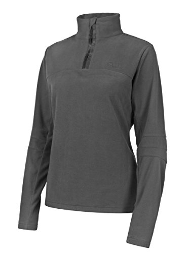 PROTEST Damen Fleece 1/4 Zipp Mute 14 1/4 Zip Top, Grau, XL von Protest