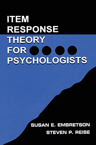 Item Response Theory for Psychologists (Multivariate Applications) von Psychology Press