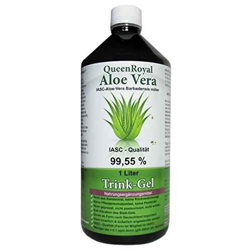 QueenRoyal Aloe Vera Trink Gel 99.55% pur 1 Liter Flasche. 30255 G von QueenRoyal