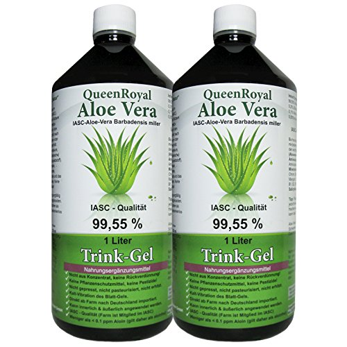 QueenRoyal Aloe Vera Trink Gel 99.55% pur 2 Liter Sparpack. 30256 G von QueenRoyal