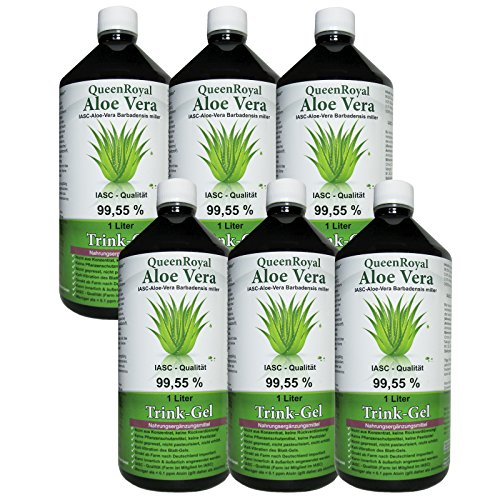 QueenRoyal Aloe Vera Trink Gel 99.55% pur 6 Liter Sparpack. 30254 G von QueenRoyal
