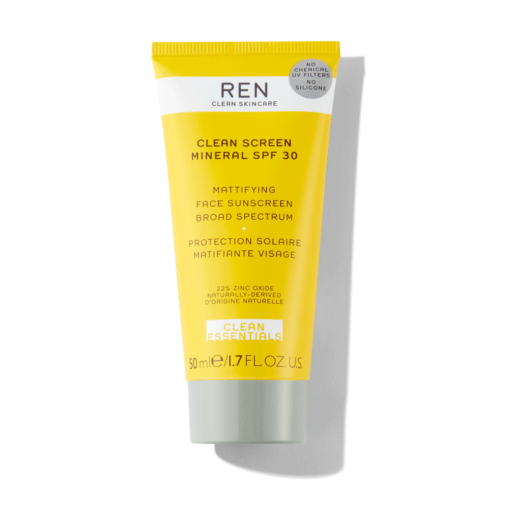 Clean Screen Mattifying Face Sunscreen SPF 30 - 50 ml von REN Clean Skincare