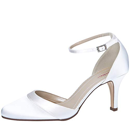 Rainbow Club Brautschuhe Amanda - Damen Pumps gepolstert, Pure White, Satin - Gr. 37 (UK 4) von Rainbow Club