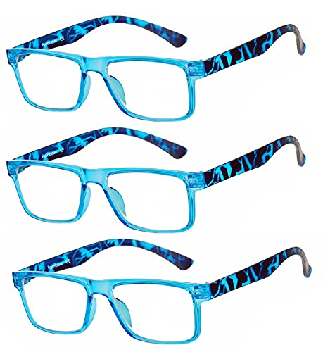 Rainbow safety Herren Damen Vollformat Lesebrille Lesehilfe RRD +1.00D Blau von rainbow safety