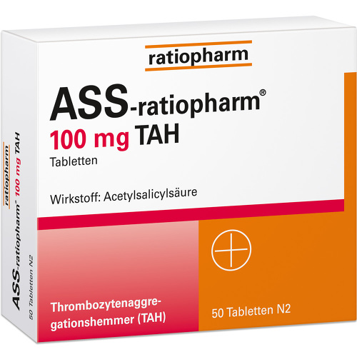 ASS Ratiopharm 100 mg TAH Tabletten von Ratiopharm