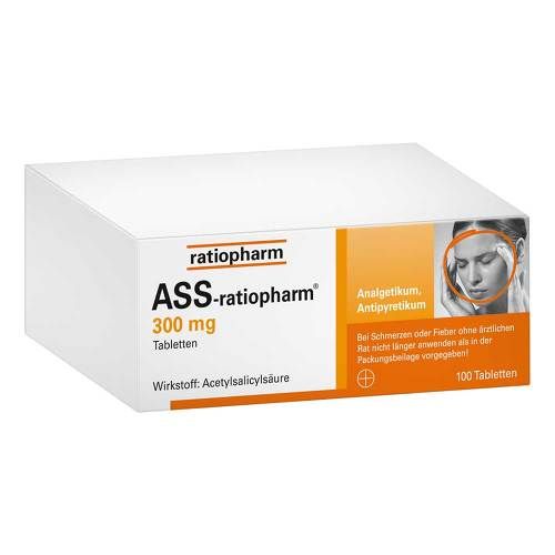 ASS Ratiopharm 300 mg Tabletten von Ratiopharm