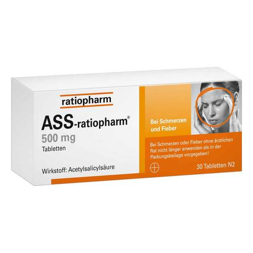 ASS Ratiopharm 500 mg Tabletten von Ratiopharm