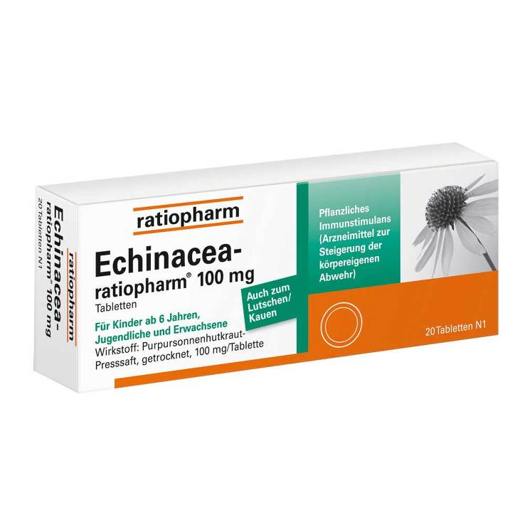 Echinacea Ratiopharm 100 mg Tabletten von Ratiopharm