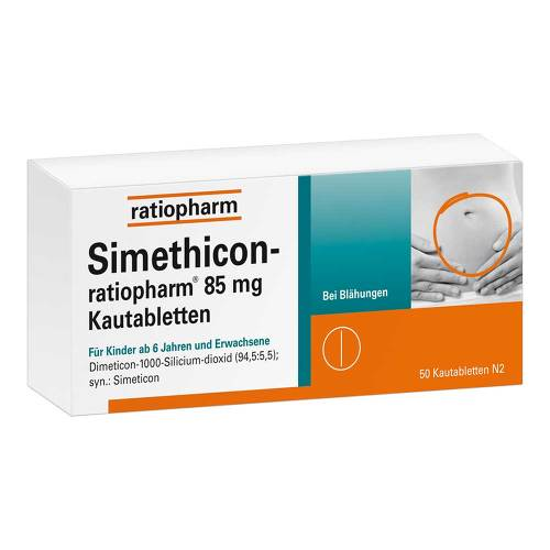 Simethicon ratiopharm 85 mg Kautabletten von Ratiopharm