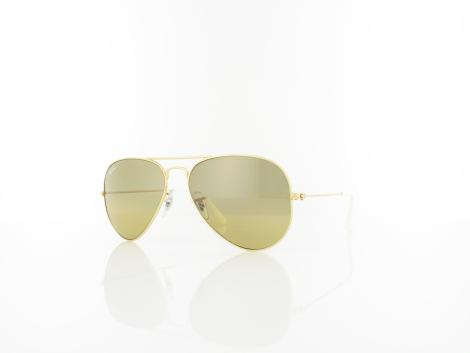 Ray Ban Aviator Large Metal RB3025 001/3K 55 arista / crystal brown mirror silver grad. von Ray Ban
