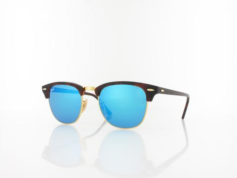 Ray Ban Clubmaster RB3016 114517 51 sand havana gold / grey mirror blue von Ray Ban