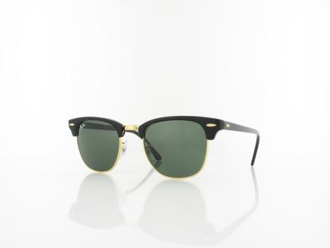 Ray Ban Clubmaster RB3016 W0365 49 ebony arista / crystal green von Ray Ban
