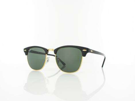 Ray Ban Clubmaster RB3016 W0365 51 ebony arista / crystal green von Ray Ban