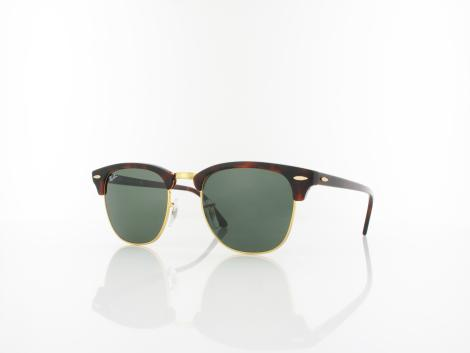 Ray Ban Clubmaster RB3016 W0366 51 mock tortoise arista / crystal green von Ray Ban