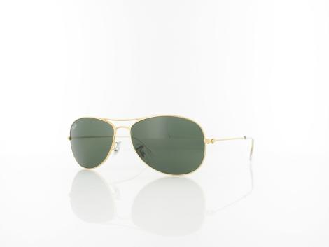Ray Ban Cockpit RB3362 001 56 arista / crystal green von Ray Ban