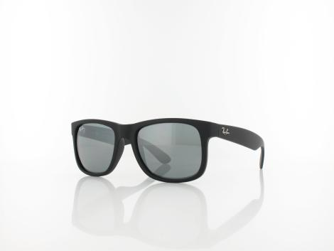 Ray Ban Justin RB4165 622/6G 51 rubber black / grey mirror silver von Ray Ban