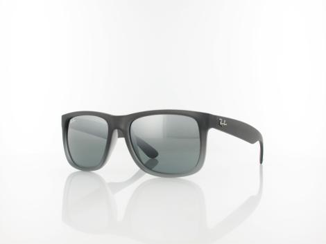 Ray Ban Justin RB4165 852/88 54 rubber grey transparent / grey silver mirror von Ray Ban