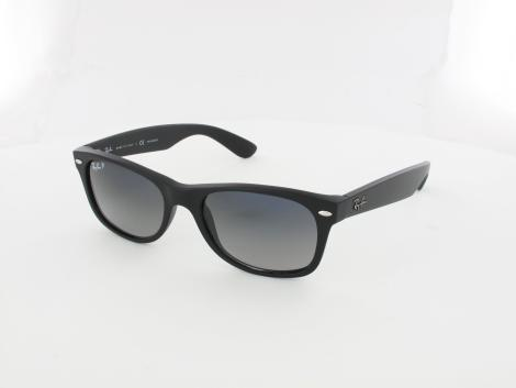 Ray Ban New Wayfarer RB2132 601S78 52 matte black / polar blue gradient grey von Ray Ban