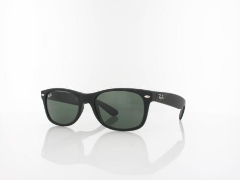 Ray Ban New Wayfarer RB2132 622 52 black rubber / green von Ray Ban